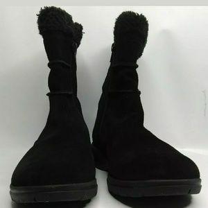 Clarks Shoes - Clarks Bendables Suede Zip Buttons Fleece Lining
